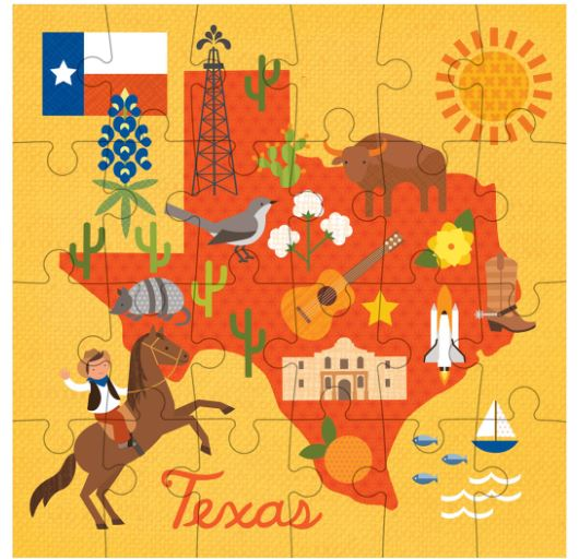 Petite Collage State of Texas Puzzle