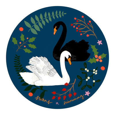 Dessert Plate - Swan (HURRY! ONLY 3 REMAINING!)