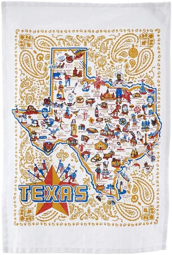 One Hundred 80 Degrees ~ Texas Tea Towel