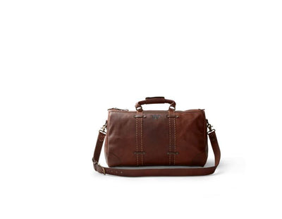 King Ranch Saddle Stitch Leather Weekender Duffle Bag