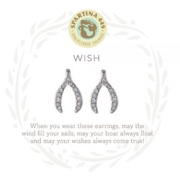 Spartina Sea La Vie Wishbone Stud Earrings