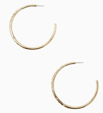 Lilly Pulitzer Zanzibar Hoop Earrings ~ Gold Metallic