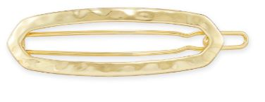 Zorte Small Barrette ~ Gold
