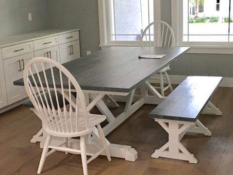 Farmhouse table, benches & Chairs