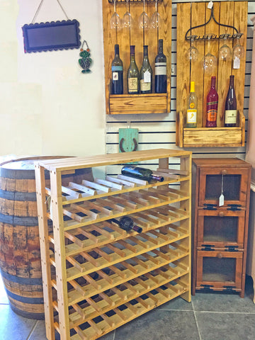 wine rack at Molly's Marketplace