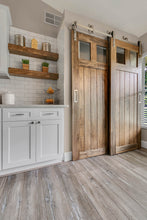Load image into Gallery viewer, wood pantry doors, bypass barn doors, doors sliding, closet doors,