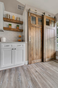 wood pantry doors, bypass barn doors, doors sliding, closet doors,