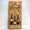 Wooden Rustic & Metal Rake Wine and Glass Rack