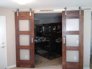 "SINGLE BARN DOOR: ""Ultra Modern Glass"" Style"