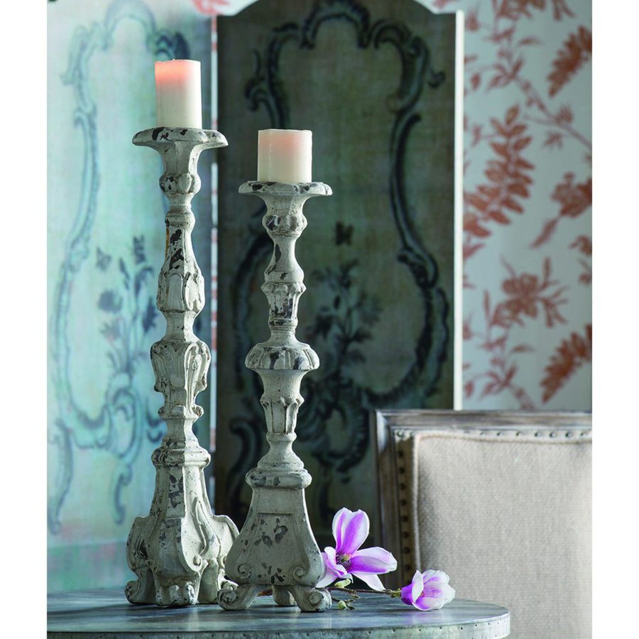 Tall Shabby Chic Candle Holder