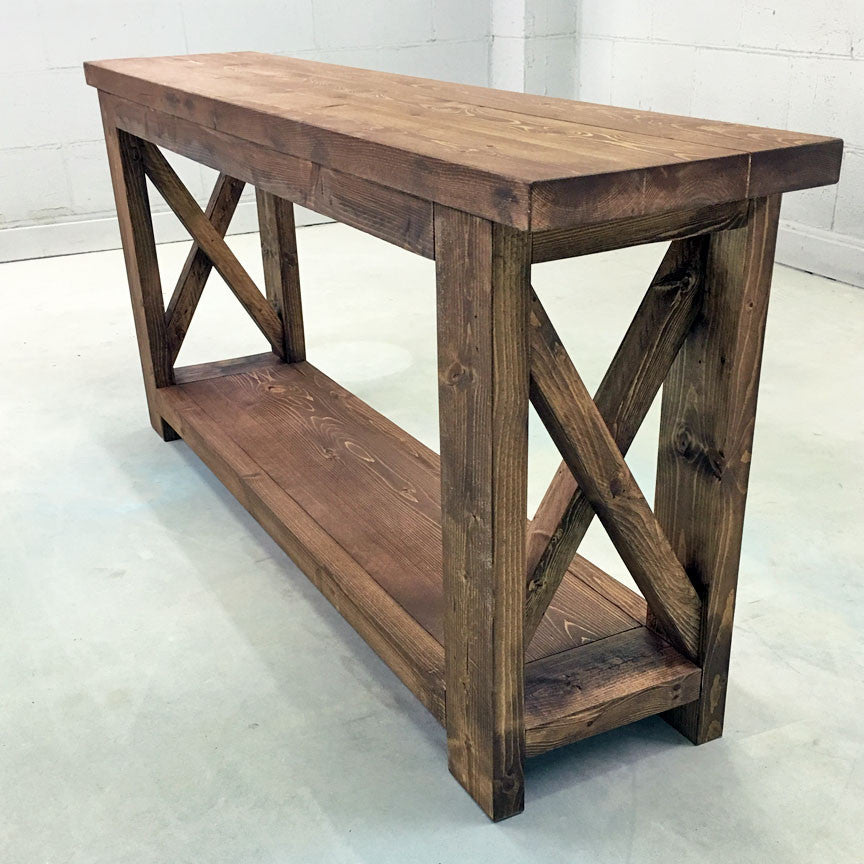 Wooden Farmhouse Inspired Console Table