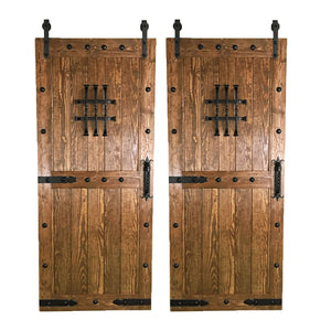 "BI-PARTING BARN DOORS: ""Castle"" Style"
