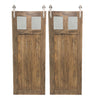 "BI-PARTING BARN DOORS: ""Glass Craftsman"" Style"