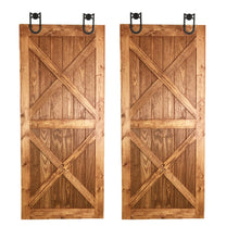 "Load image into Gallery viewer, BI-PARTING BARN DOORS: ""Dual X"" Style"