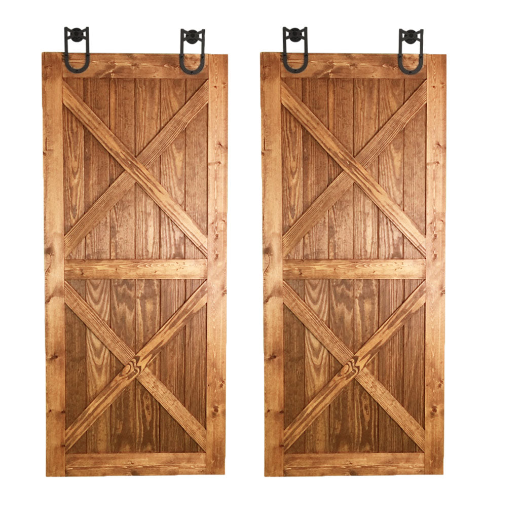 BI-PARTING BARN DOORS: