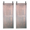 "BI-PARTING BARN DOORS: ""Pure"" Style"