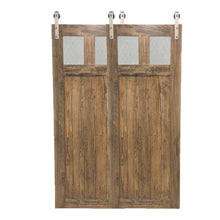 "Load image into Gallery viewer, BYPASS BARN DOORS-""Glass Craftsman"" Style"