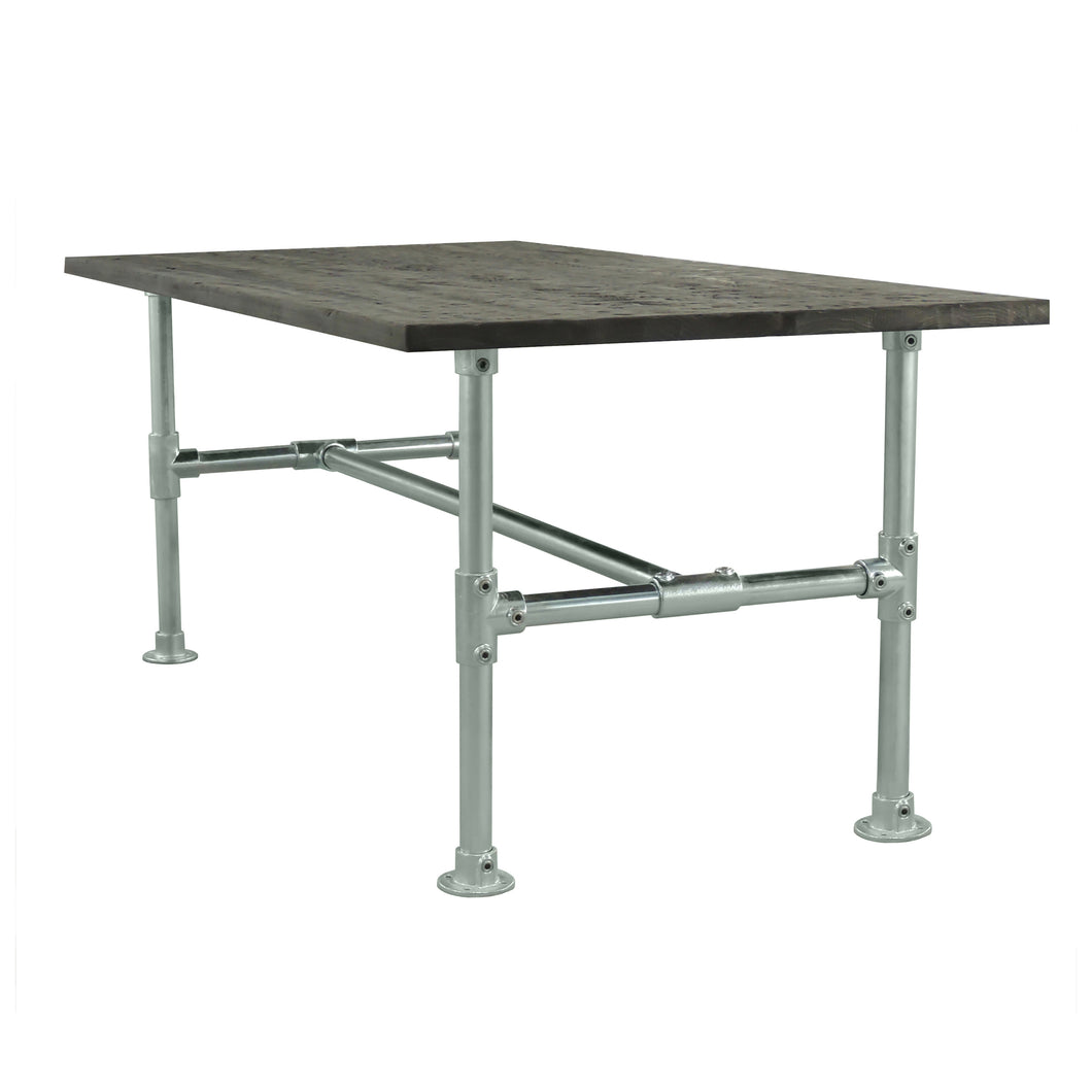 Riley Stainless Modern Industrial all metal Pipe Conference Room Table