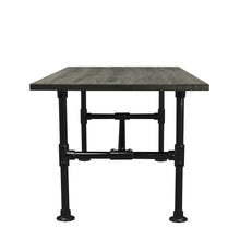 Load image into Gallery viewer, Samuel - Black Modern Industrial Pipe Dining Table