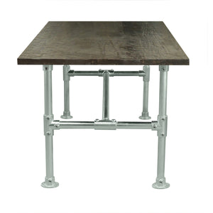 Newman Stainless Modern Industrial Pipe Dining Table