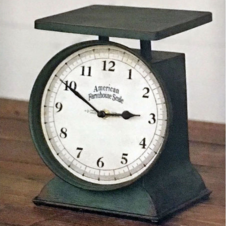 Farmhouse scale clock, farmhouse clock, country clock, country scale clock, farm clock, country farm clock