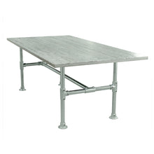 Load image into Gallery viewer, Newman Stainless Modern Industrial Pipe Dining Table