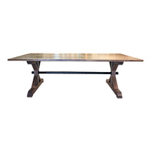 Load image into Gallery viewer, Modern Farmhouse Dining Table, Walnut Dining Table, 12ft Dining Table, 11ft Dining Table, 10ft dining Table, 8ft dining Table, Wood and Metal Dining Table