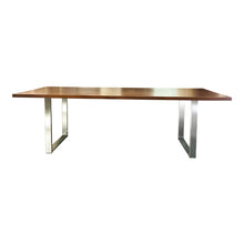 Load image into Gallery viewer, Elwood Modern Silver Metal Leg Dining Table