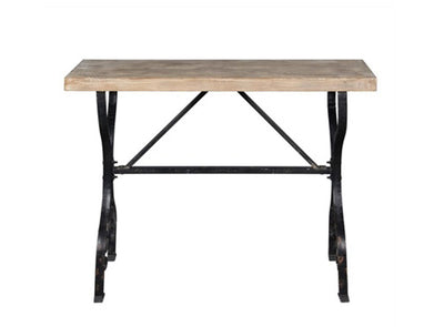 Reid Console Distressed Finished with Iron Base