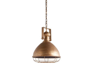 Rustic Brass Domed Pendant Light