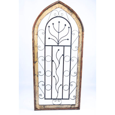 Medium Wood & Metal Arch Window