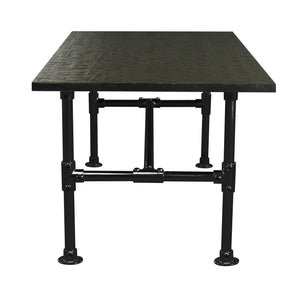 Samuel - Black Modern Industrial Pipe Dining Table