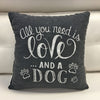 All you need is LOVE and a Dog Pillow