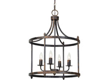 Load image into Gallery viewer, Farmhouse Light-Arlington Black Chandelier