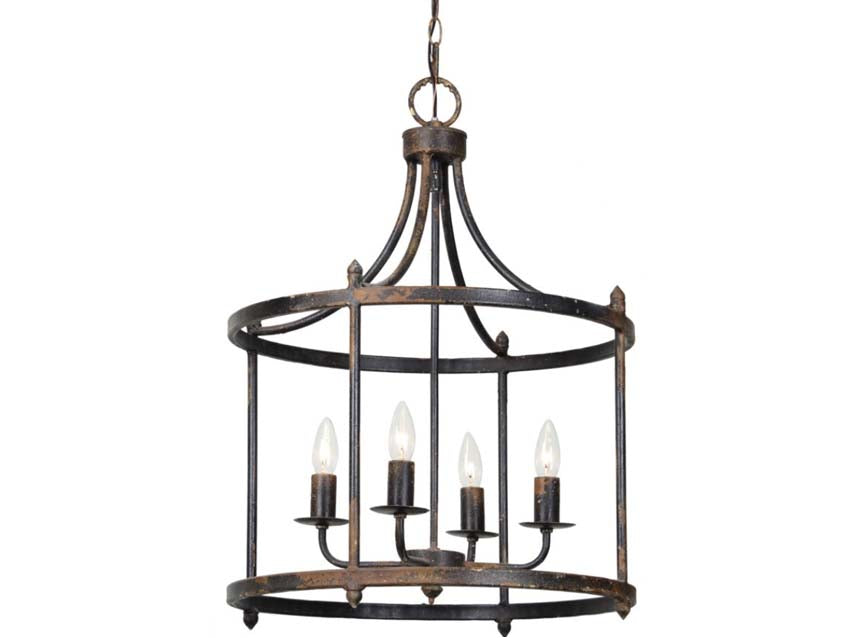 Farmhouse Light-Arlington Black Chandelier