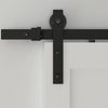 black barn door track, black barn door hardware, black barn door kit, barn door rail,