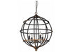 Burns Sphere Black Metal Industrial Chandelier