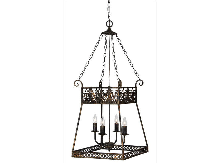 Coley Pendant French Inspired Vintage Black & Rust