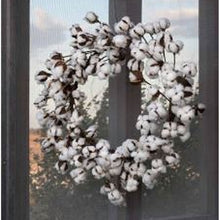 Load image into Gallery viewer, cotton wreath, farmhouse cotton wreath, farmhouse wreath