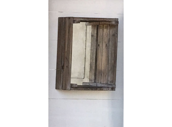 Wooden Crate with Mirror