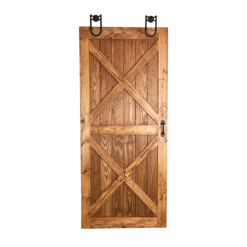double dual x barn door, wooden sliding barn door, wooden sliding door interior, custom barn door
