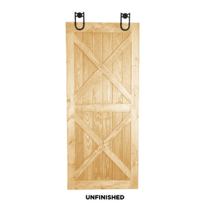 "SINGLE BARN DOOR: ""Dual X"" Style"