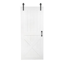 Load image into Gallery viewer, white interior door sliding, white barn door, white interior sliding barn door, custom made barn door