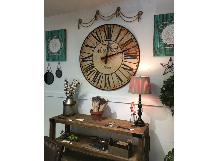 Farmers Clock, Metal Clock, Large Wall Clock, Farmhouse clock, fixer upper clock,