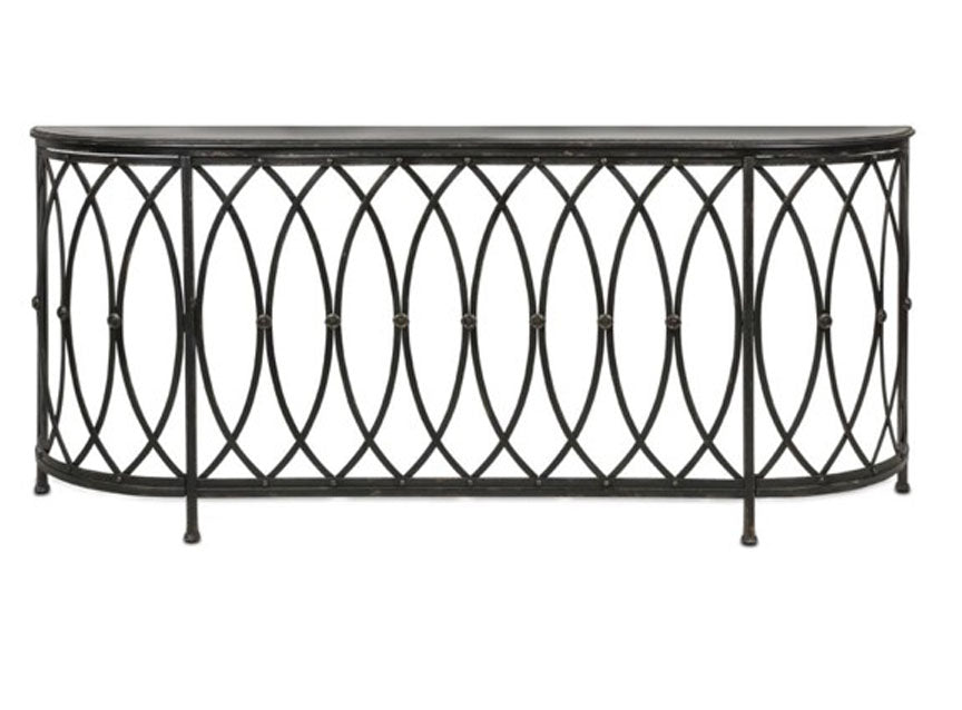 Metal Console Table, Farmhouse Metal Table, see through console table, hall table