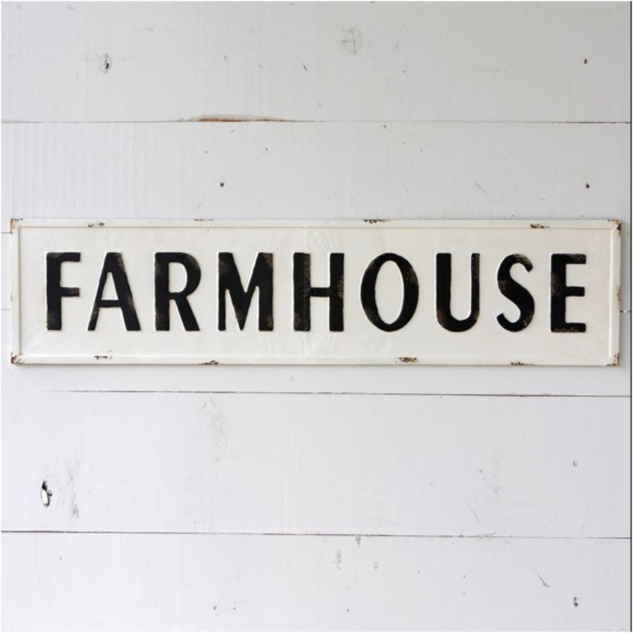 farmhouse sign, metal farmhouse sign, large metal sign, old fashioned sign