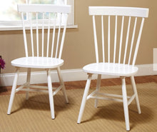 Load image into Gallery viewer, White Farmhouse Wood Chairs
