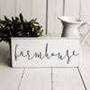 farmhouse white and black wooden sign, small farmhouse wood sign, farmhouse sign,