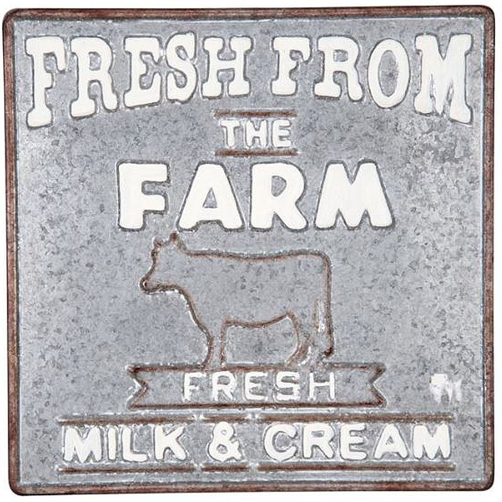 farmhouse metal sign, fresh from the farm sign, wall sign, farmhouse wall sign
