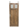 "SINGLE BARN DOOR: ""Glass Craftsman"" Style"